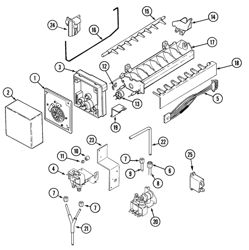 small resolution of freezer compartment maytag msd2757deq ice maker diagram