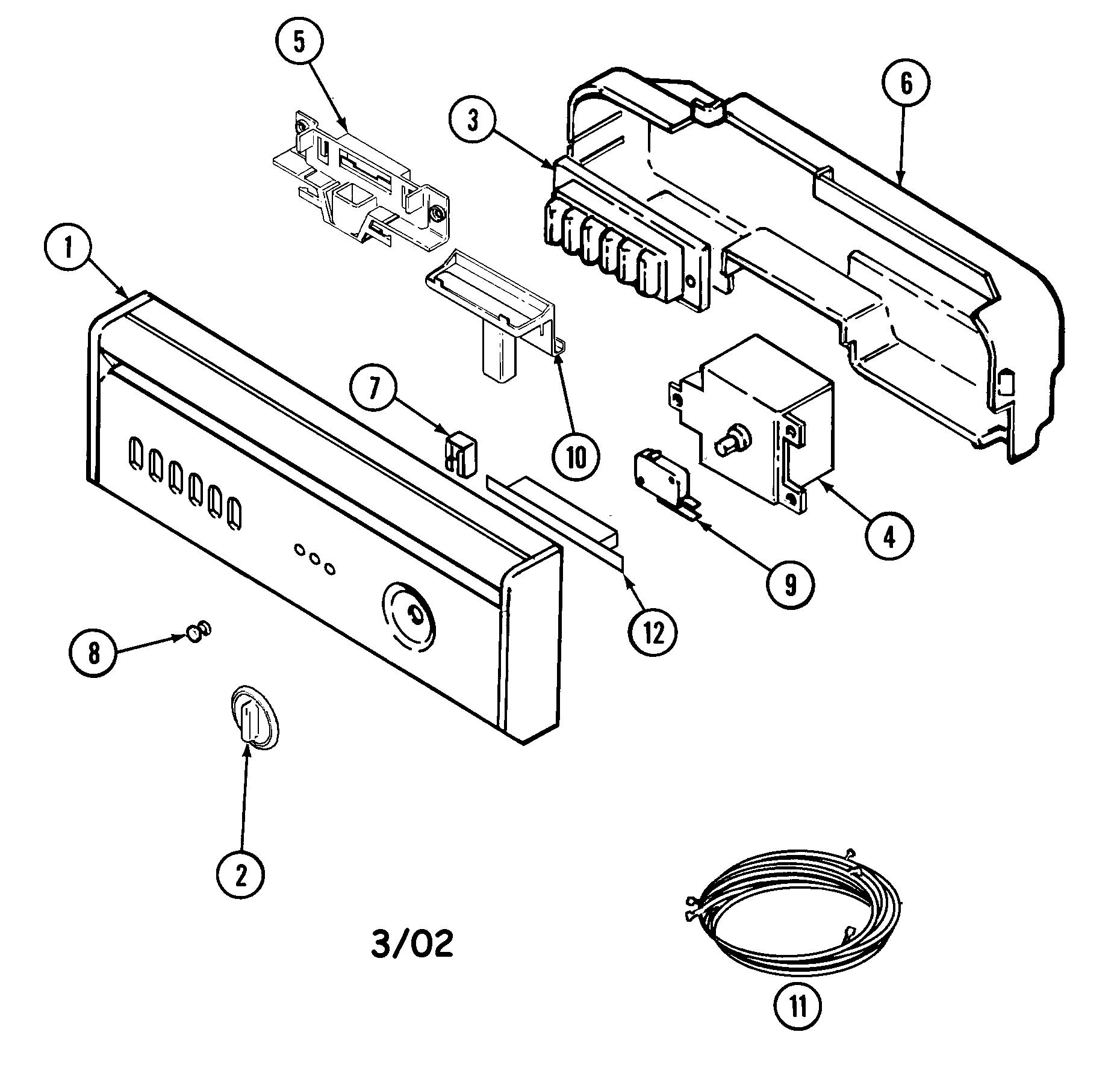 hight resolution of maytag mdb5000aww control panel diagram