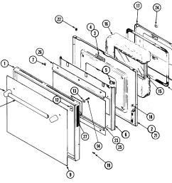 jenn air ww2780b door diagram [ 2394 x 2192 Pixel ]