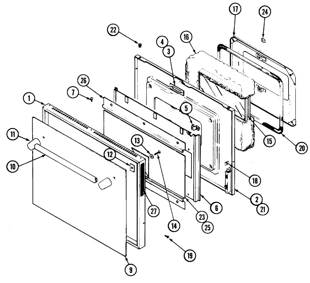 medium resolution of jenn air ww2780b door diagram