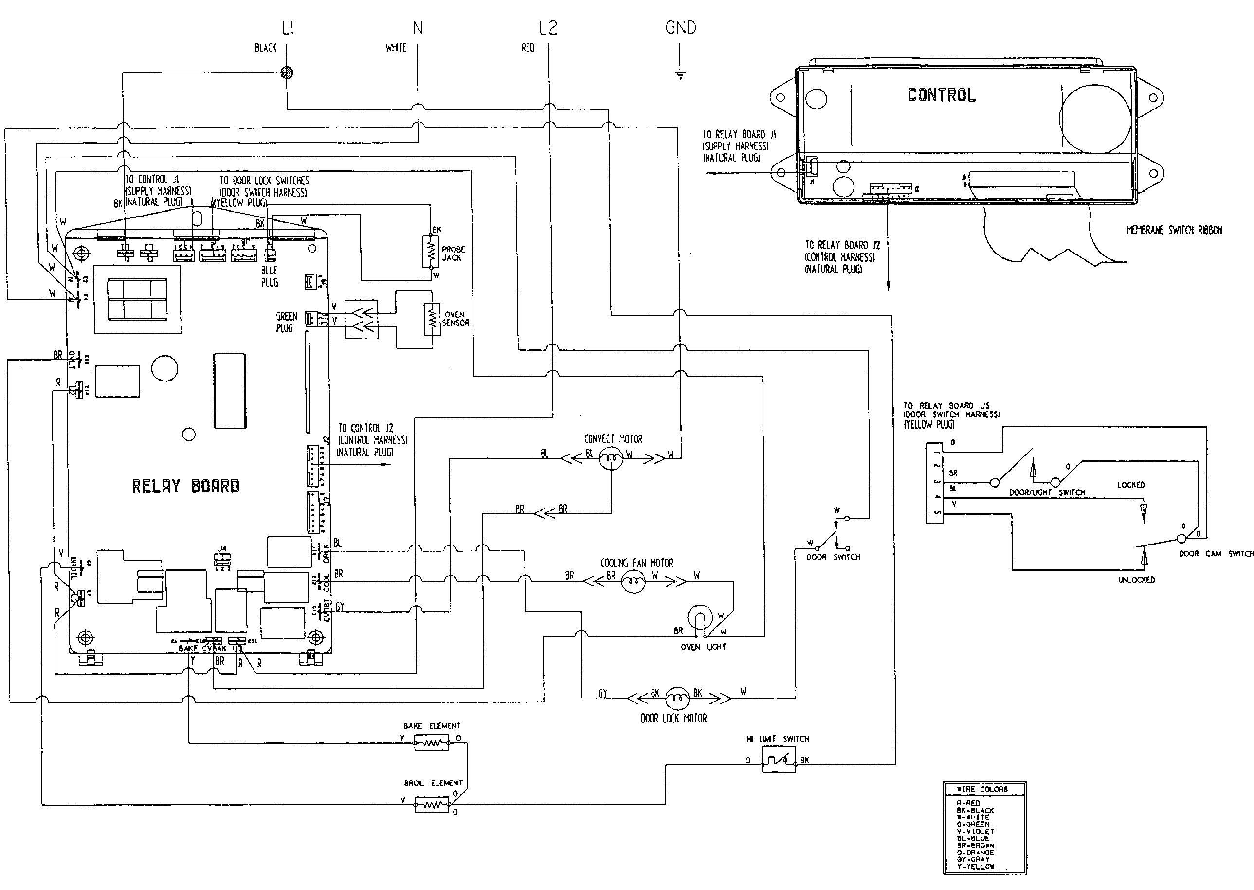 oven schematic wiring diagram [ 2577 x 1829 Pixel ]