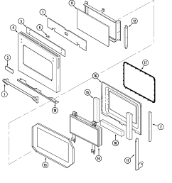 jenn air w30400p door w30400p pc diagram [ 2250 x 2764 Pixel ]