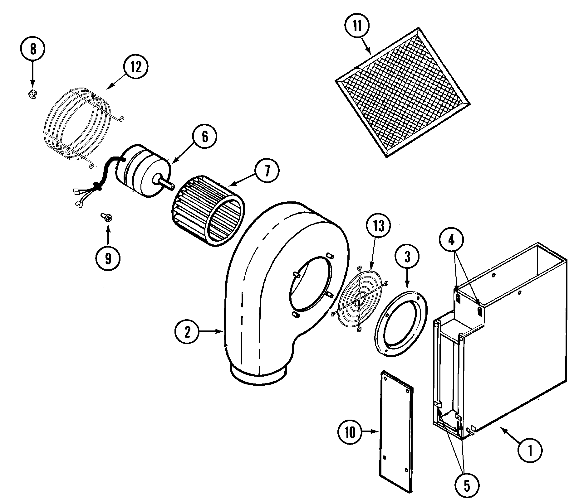 BLOWER PLENUM Diagram & Parts List for Model jed8130adb