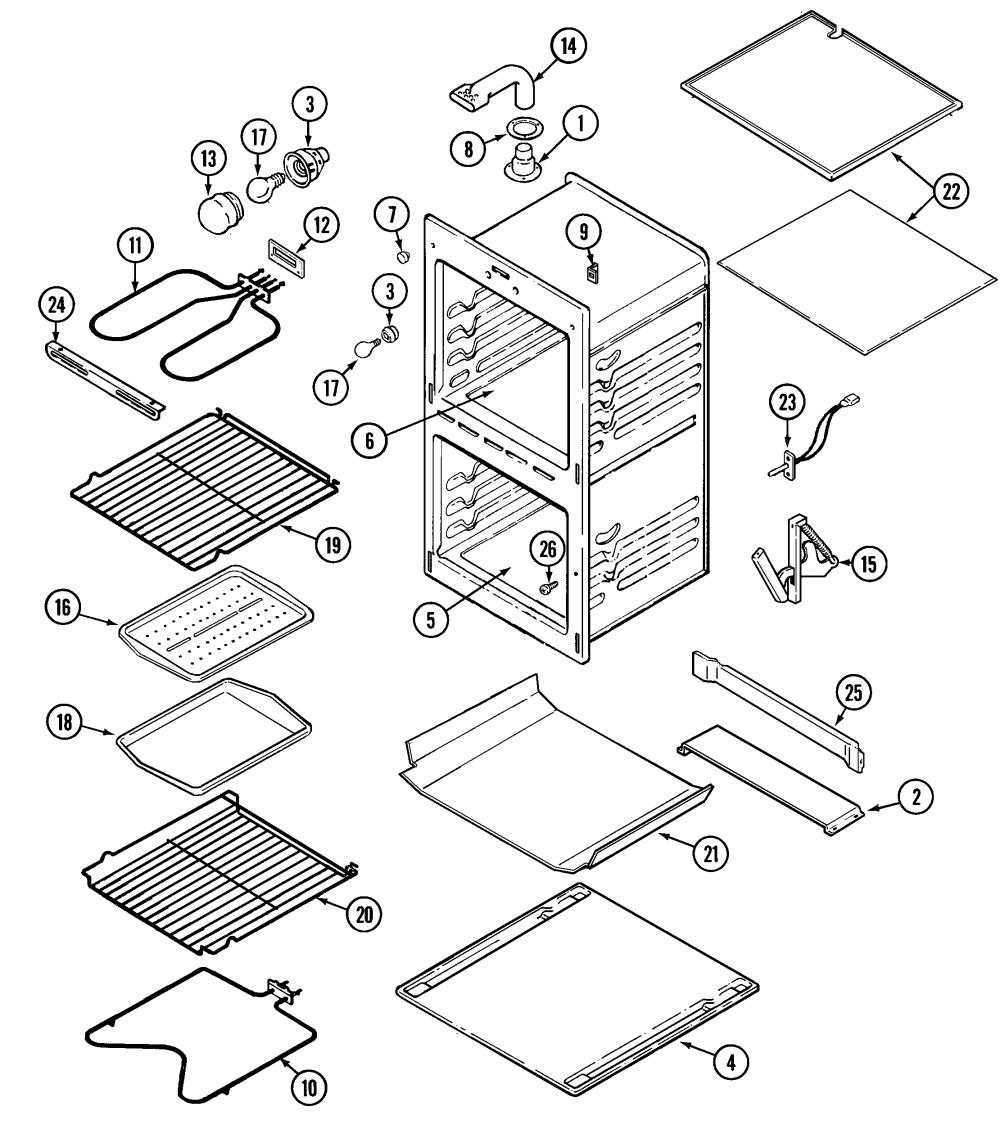 medium resolution of magic chef model 9825vuv built in oven electric genuine partsmagic chef oven wiring diagram