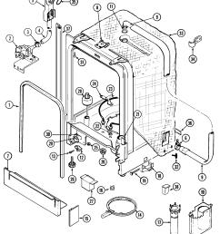 maytag model mdb6000aww dishwasher genuine parts dishwasher assembly diagram dishwasher parts diagram [ 2242 x 2593 Pixel ]