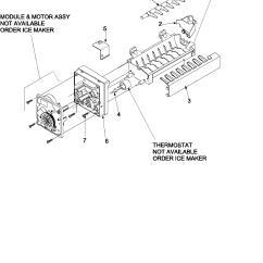 Ice Maker Diagram House Insulation Kenmore Model 59673502201 Bottom Mount Refrigerator Genuine Parts