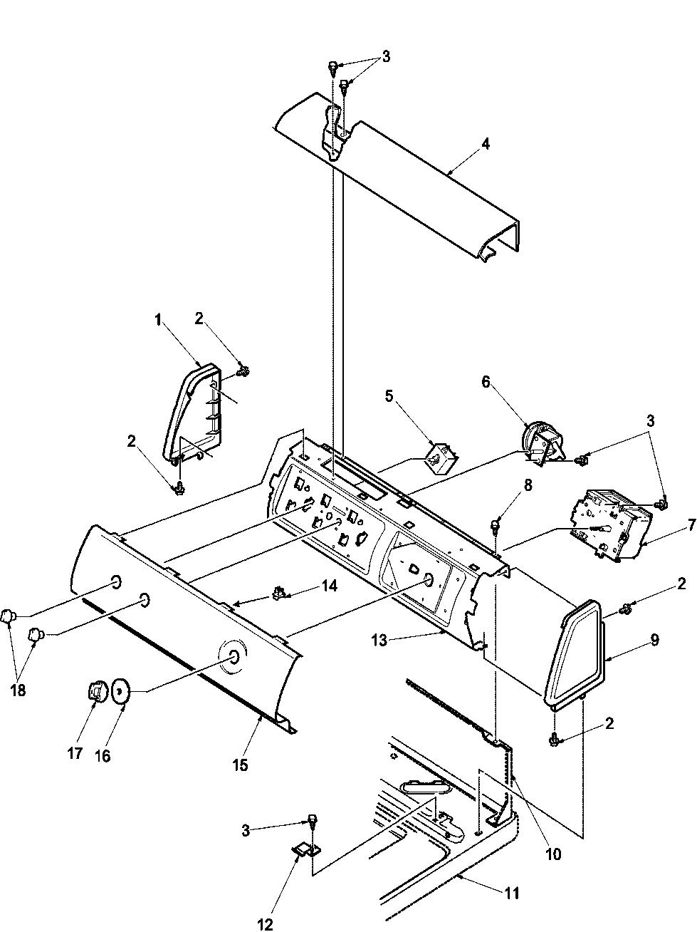 Amana amana washer top loading parts model lwa18awplwa18aw sears partsdirect