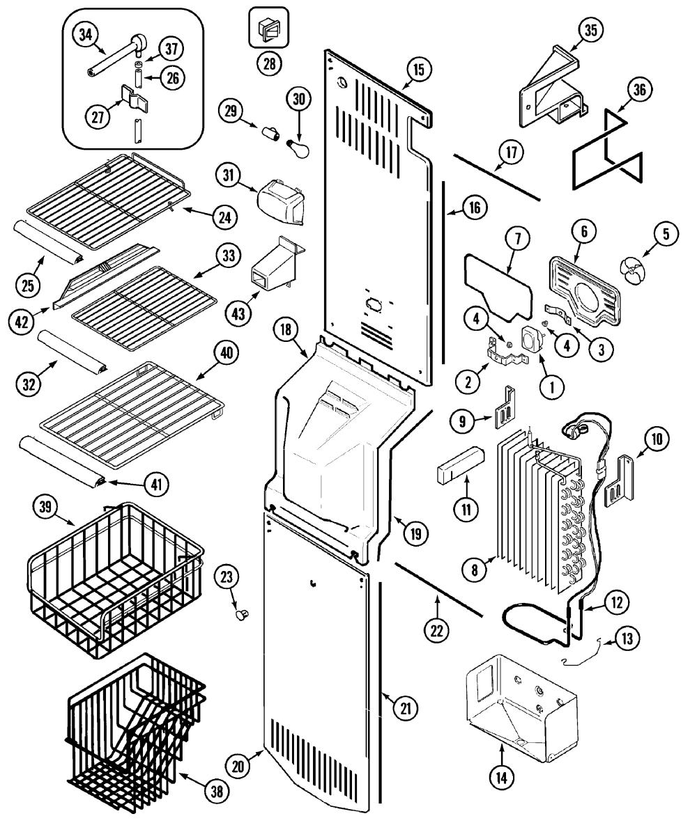 medium resolution of maytag mzd2766geq freezer compartment diagram
