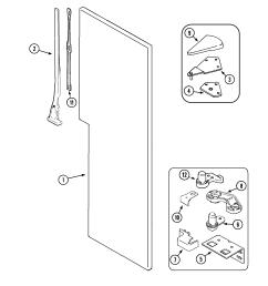 maytag mzd2766geq fresh food outer door diagram [ 2185 x 2293 Pixel ]