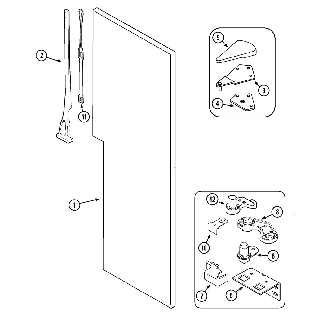 medium resolution of maytag mzd2766geq fresh food outer door diagram