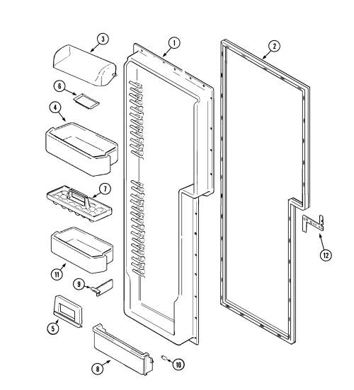 small resolution of freezer compartment maytag mzd2766geq fresh food inner door diagram