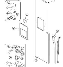 maytag mzd2766geq freezer outer door diagram [ 1885 x 2365 Pixel ]