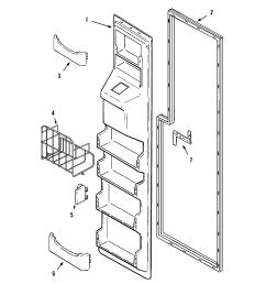 maytag mzd2766geq freezer inner door diagram [ 2394 x 2490 Pixel ]