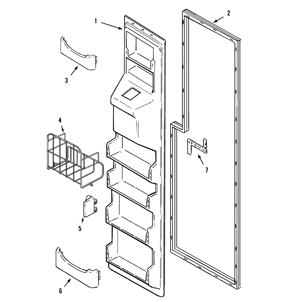 medium resolution of maytag mzd2766geq freezer inner door diagram