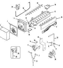 maytag mzd2768gew ice maker diagram [ 2009 x 2021 Pixel ]