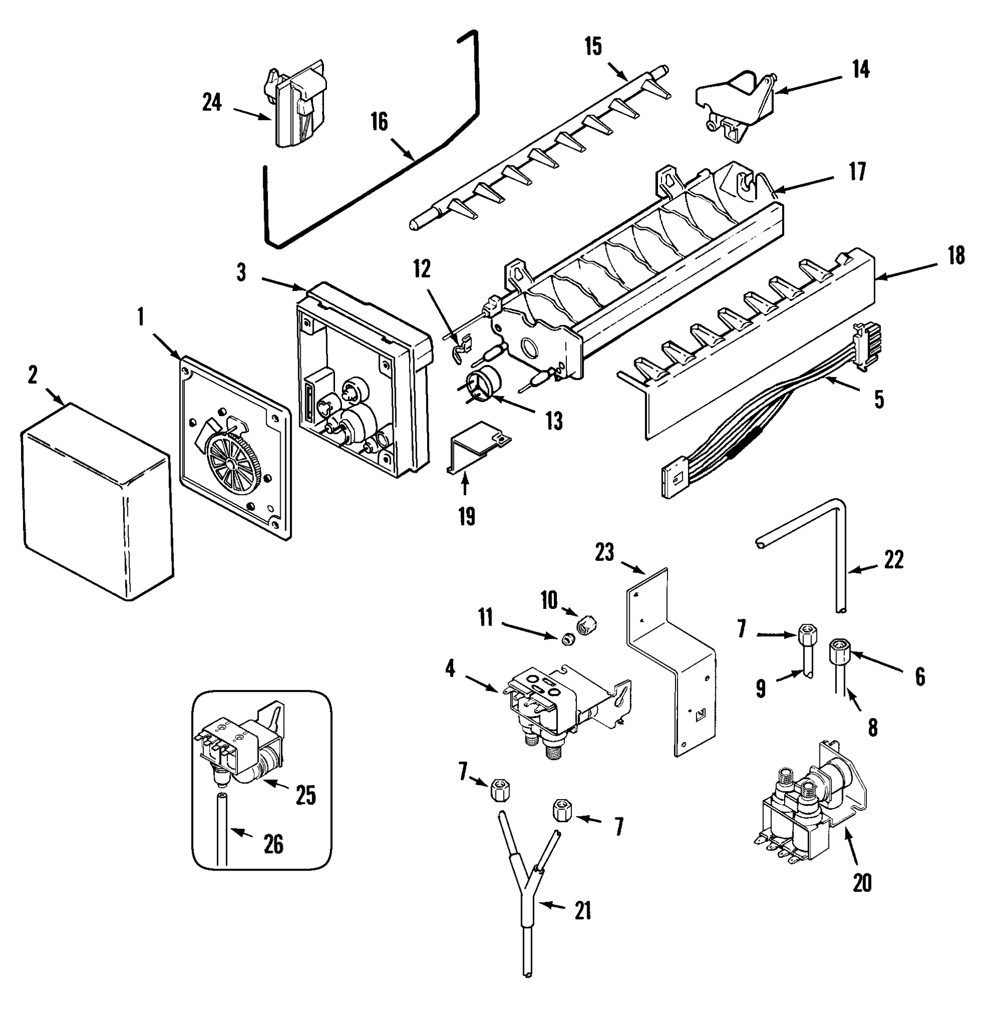 hight resolution of maytag mzd2768gew ice maker diagram