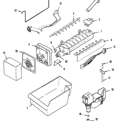 Ice Maker Diagram Lewis Dot For Gold Maytag Model Mtf2155grw Top Mount Refrigerator Genuine Parts