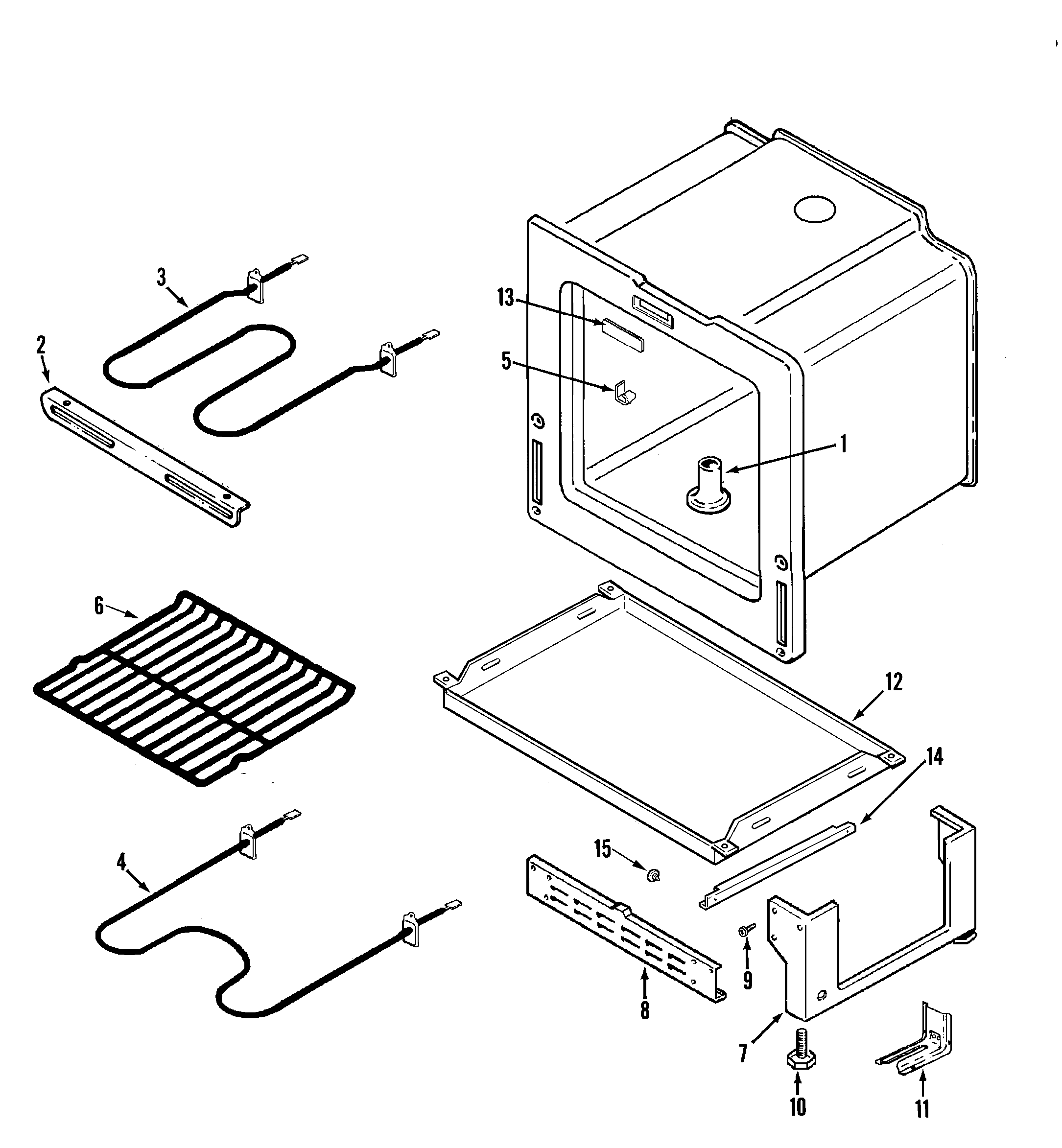 OVEN/BASE Diagram & Parts List for Model cer1140aaw Magic