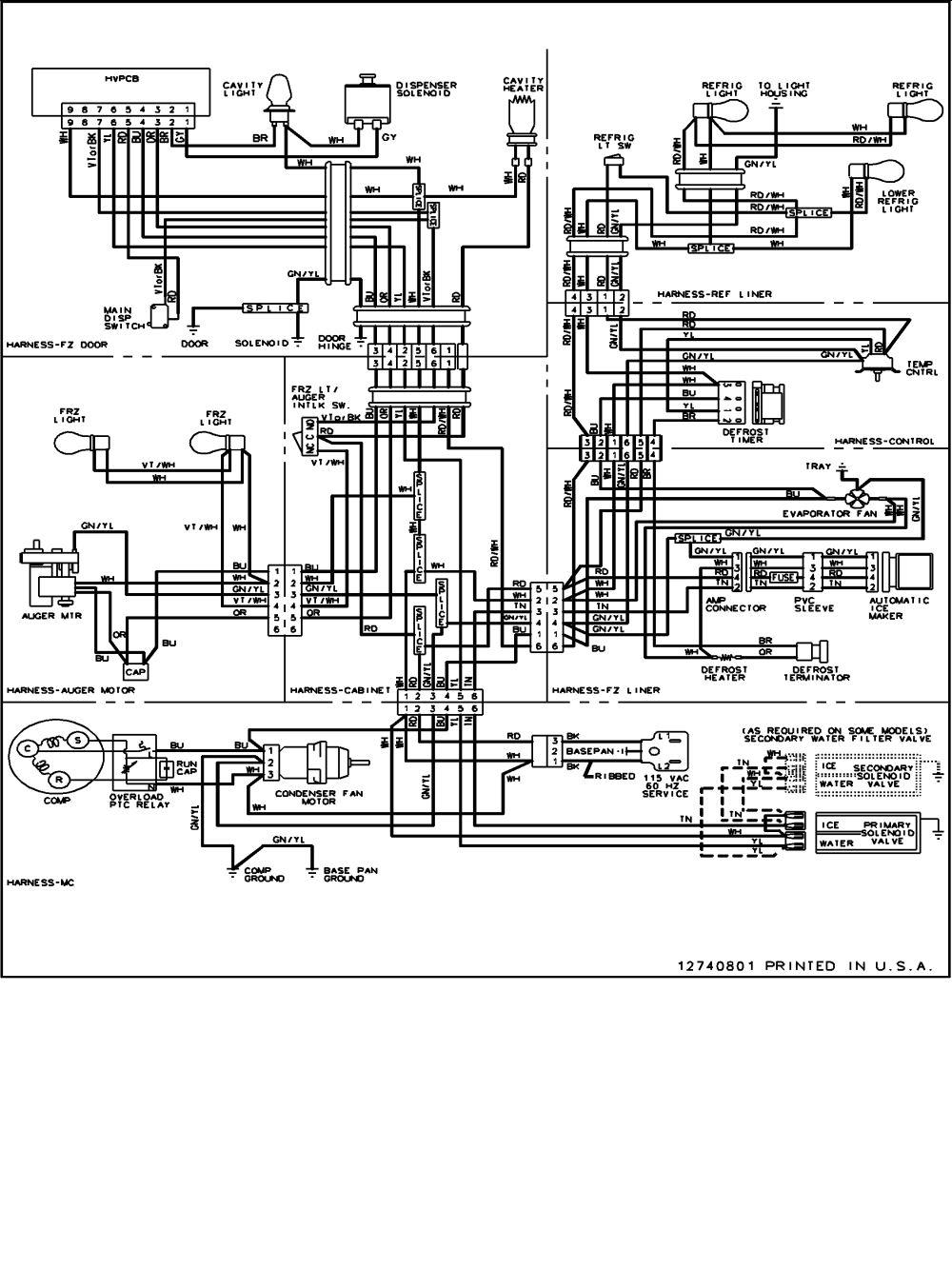medium resolution of amana drs2660bw pdrs2660bw0 wiring information diagram