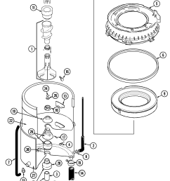 maytag lat3500aae tub diagram [ 2089 x 2657 Pixel ]
