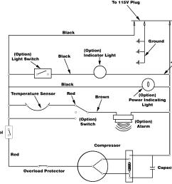 freezer electrical schematic on freezer wiring a circuit  [ 1375 x 1150 Pixel ]
