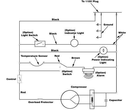 small resolution of freezer electrical schematic on freezer wiring a circuit
