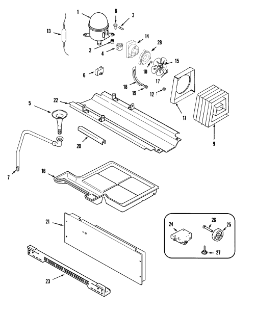 small resolution of maytag msd2735grs compressor diagram
