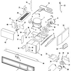 Jenn Air Refrigerator Parts Diagram Ge Electric Dryer Compressor And List For Model Js42ppdbda