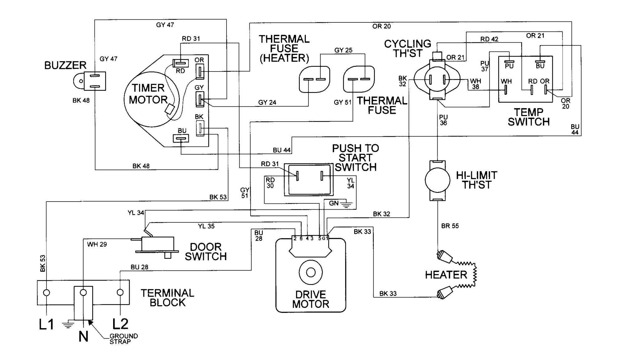 hight resolution of whirlpool electric dryer wiring diagram