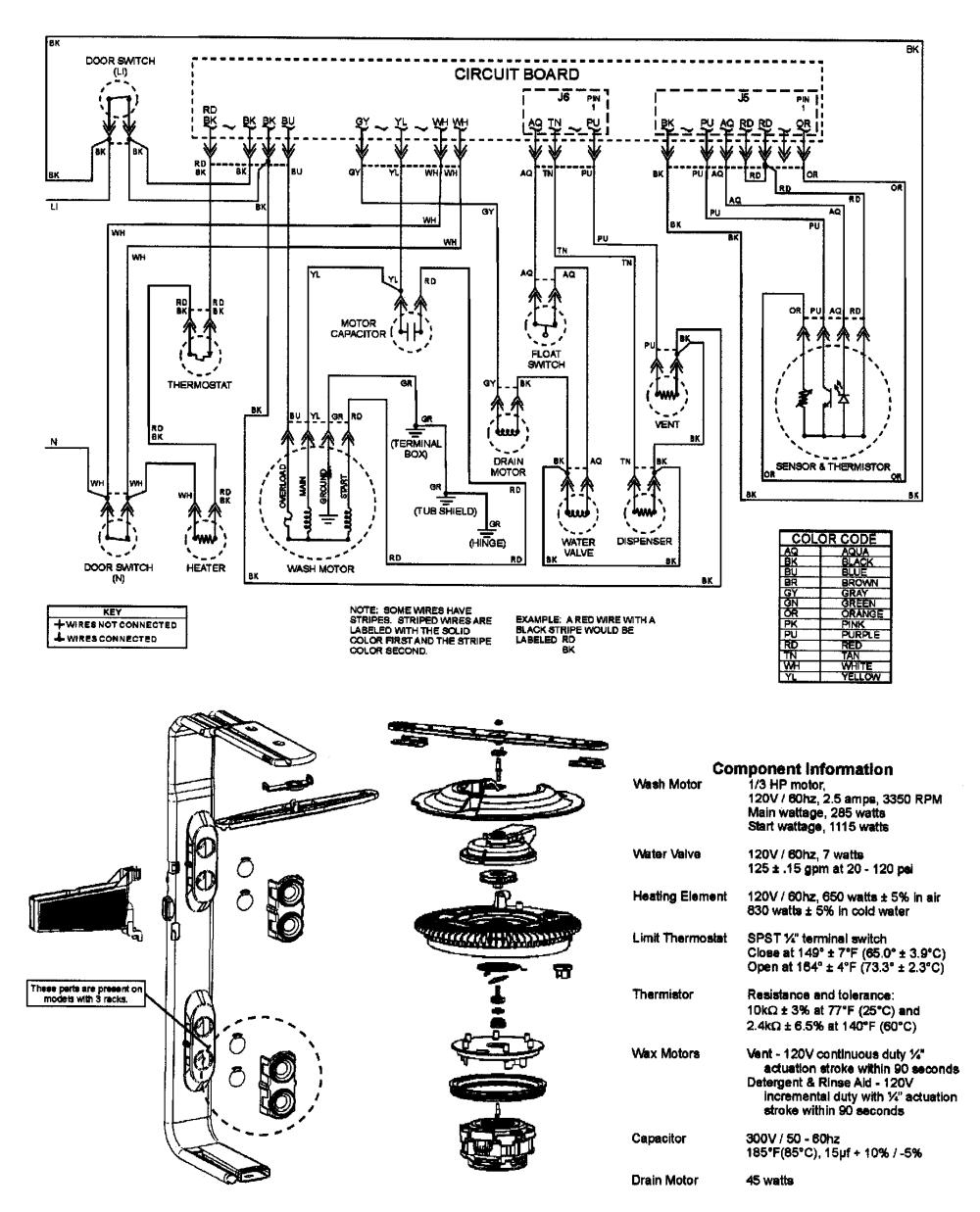 medium resolution of amana model adb1200aww dishwasher genuine parts rh searspartsdirect com amana dishwasher wiring diagram amana microwave