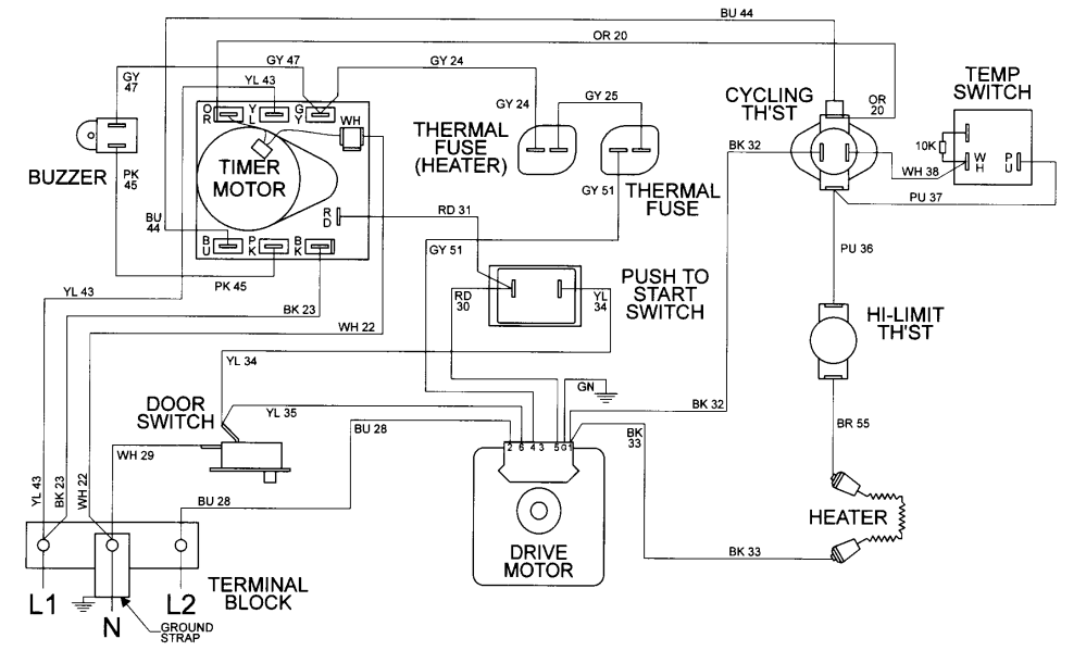 medium resolution of maytag electric dryer motor drive parts model mde9306ayw hair dryer electrical circuit diagram