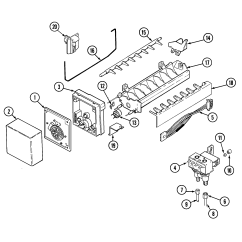 Ice Maker Diagram Trailer Junction Box Wiring And Parts List For Model Gc2227dedb Maytag