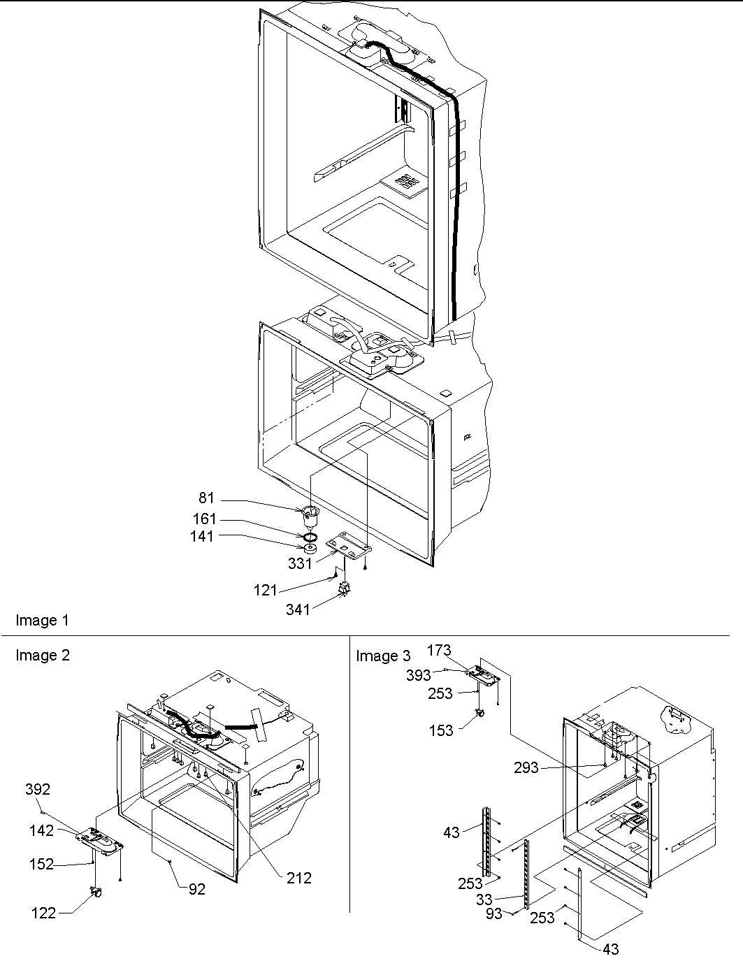 AMANA Bottom-Mount Refrigerator Light switches & drain fu