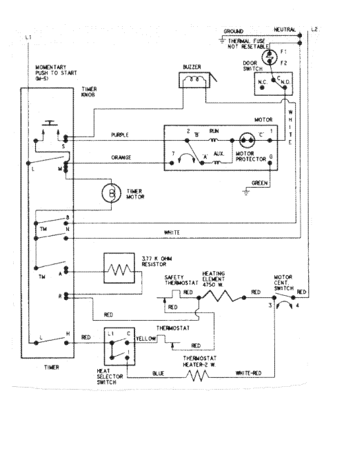small resolution of maytag model hye2460ayw residential dryer genuine parts rh searspartsdirect com ge dryer wiring diagram electric dryer wiring diagram