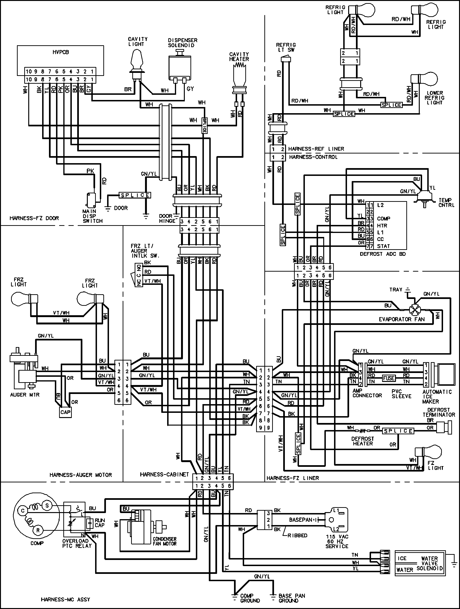 wiring diagram of refrigerator 2016 isuzu dmax radio haier diagrams samsung dryer