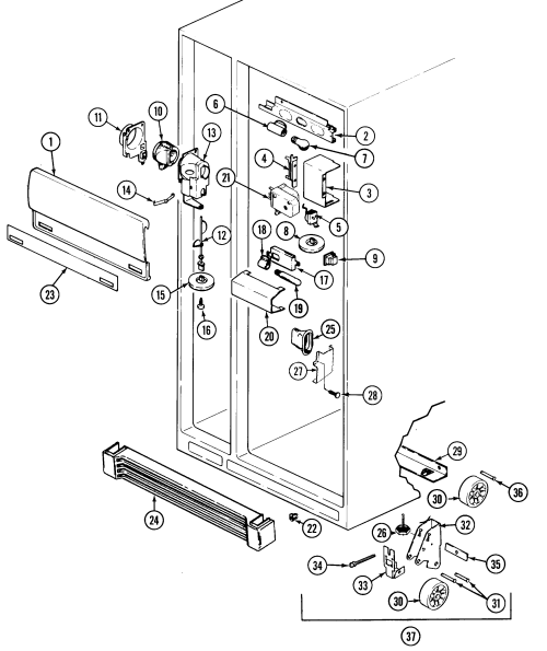 small resolution of maytag rsw22e0dae fresh food compartment diagram