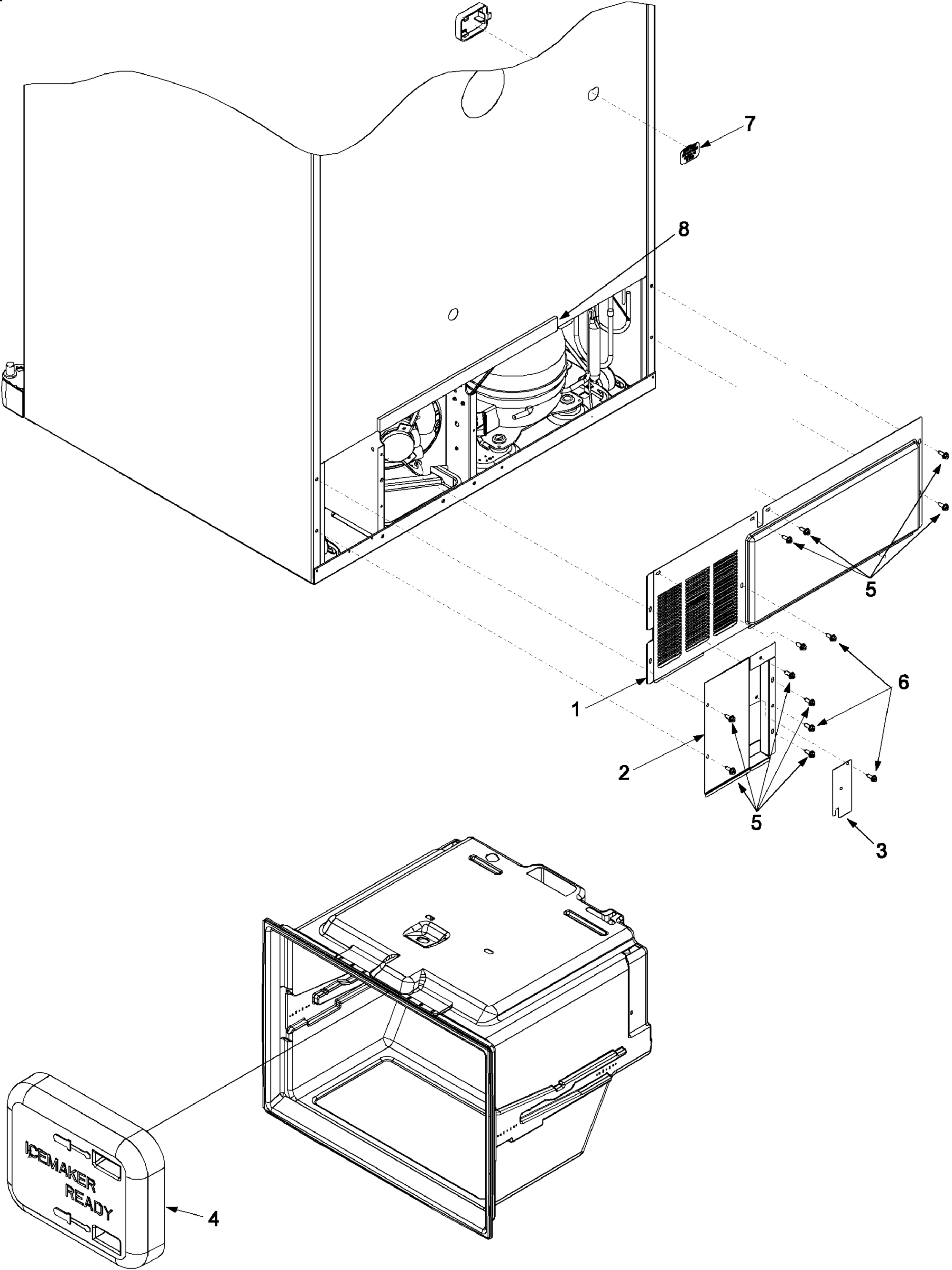 hight resolution of amana arb2214cw parb2214cw0 cabinet back diagram