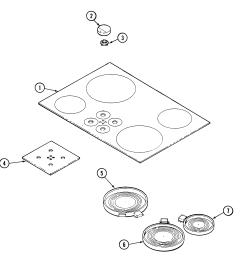 jenn air cce3401b top assembly diagram [ 2021 x 2089 Pixel ]