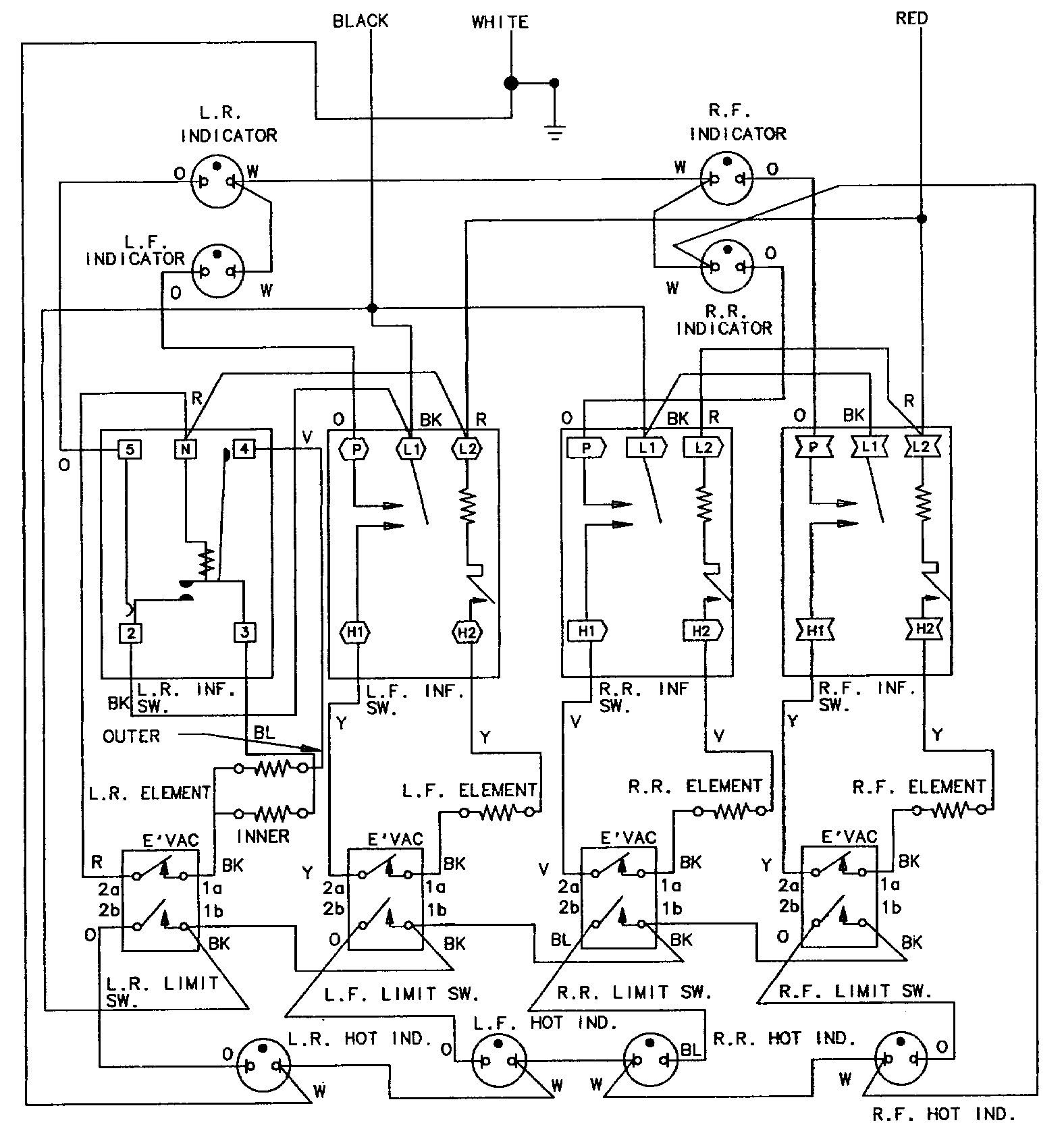 hight resolution of cook top and light fan wiring diagram