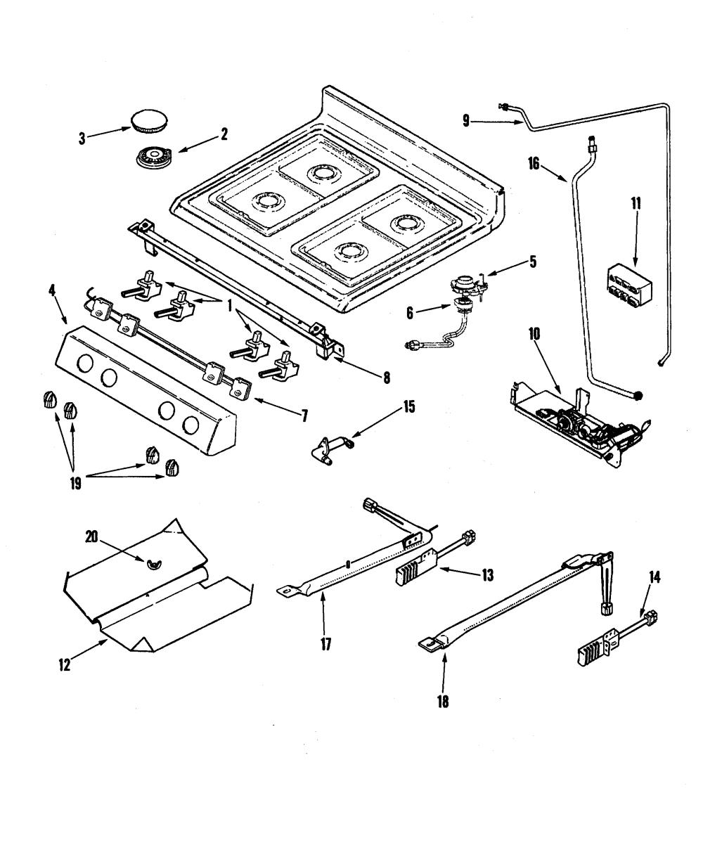 medium resolution of  wrg 9303 vintage gas stove wiring diagram