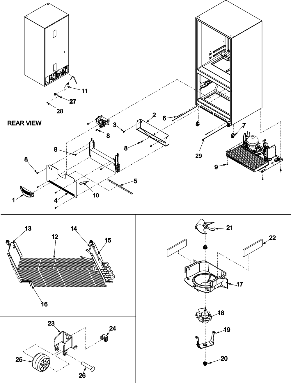 medium resolution of amana abb2524dew evaporator area rollers diagram