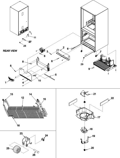 small resolution of amana abb2524dew evaporator area rollers diagram