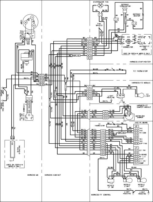 small resolution of amana model abb2524des bottom mount refrigerator genuine parts ge dryer wiring schematic amana refrigerator wiring schematic