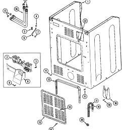 maytag mah4000aww cabinet rear diagram [ 2224 x 2530 Pixel ]