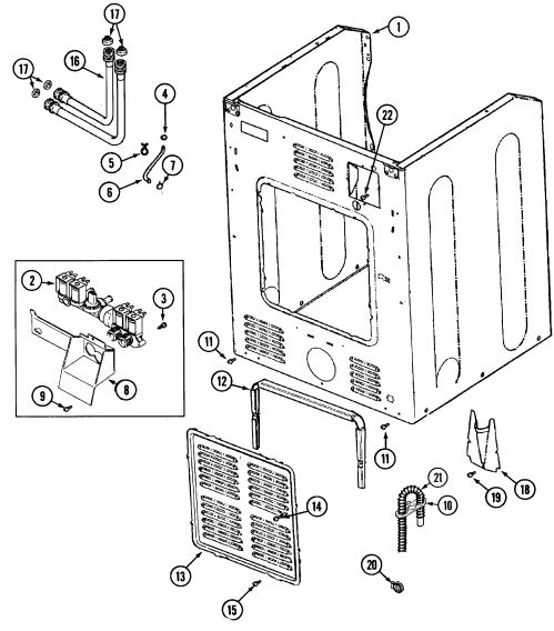 small resolution of maytag mah4000aww cabinet rear diagram