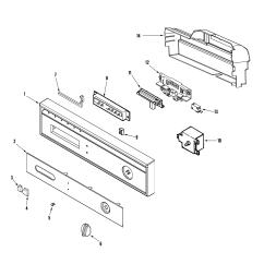 Maytag Dishwasher Wiring Diagram Addressable Led Strip Model Mdb3700awe Genuine Parts