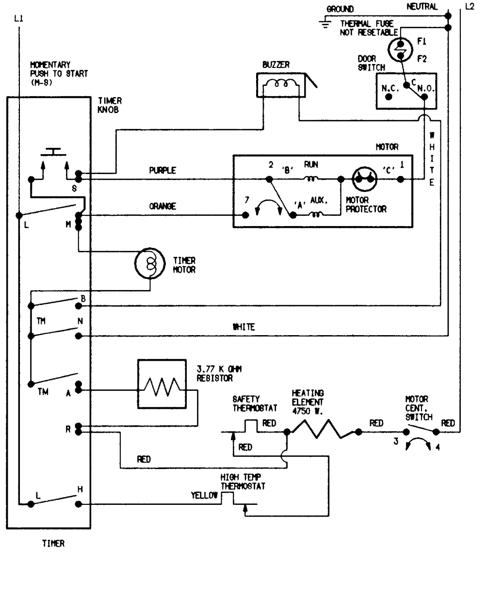 medium resolution of magic chef cyg2000aww wiring information diagram