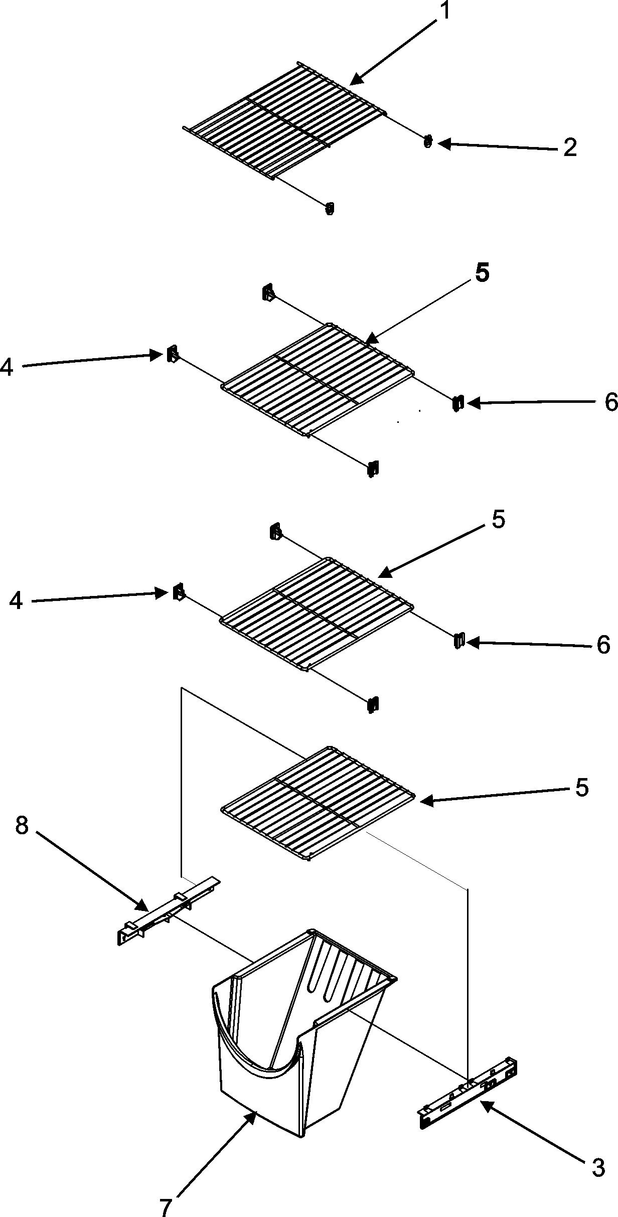 hight resolution of maytag msd2652keb freezer shelves diagram