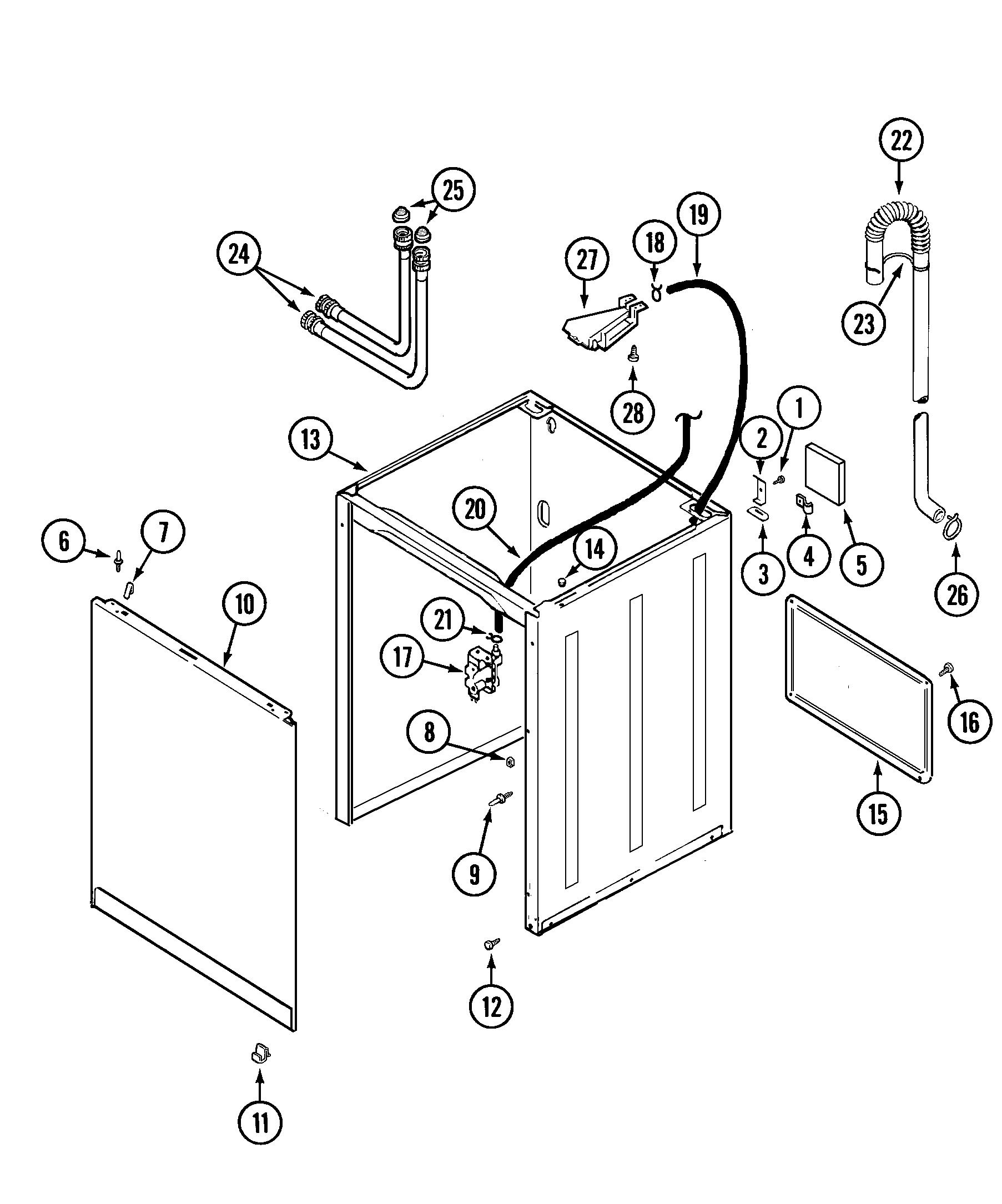 hight resolution of wiring information maytag pav2200aww cabinet diagram