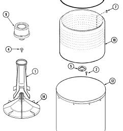 maytag pav2200aww tub pav2200 diagram [ 1639 x 2668 Pixel ]